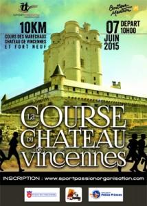 10km du chateau de vincennes 2015 affiche