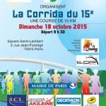 corrida du 15ème 2015 affiche