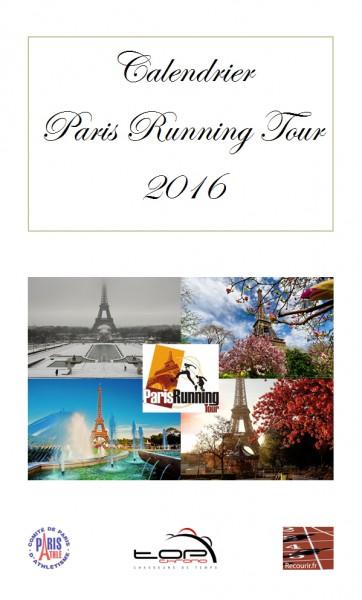 calendrier Paris Running Tour 2016 garde