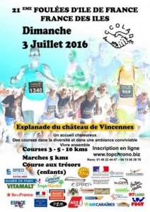 Foulées France des iles 2016 affiche