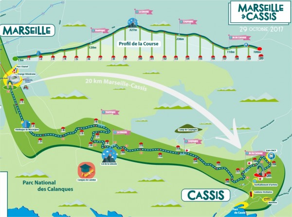marseille cassis 2017 - plan de course