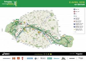 marathon de paris 2018 - parcours