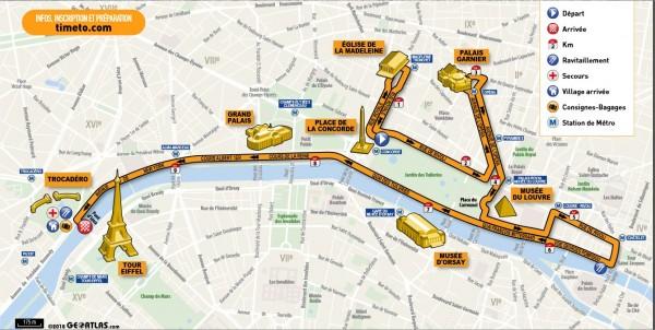 adidas 10km Paris parcours